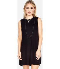 gilly sleeveless dress - l black