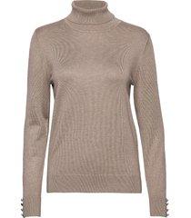 pullover-knit light turtleneck polotröja beige brandtex