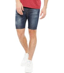 bermuda blocktres denim azul - calce regular