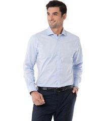 camisa formal print spandex celeste arrow