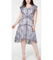 taylor plus size lace a-line dress