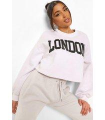 korte gebleekte london sweater, ecru