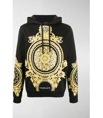 versace le pop classique baroque-print cotton hoodie