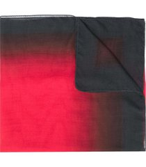 ann demeulemeester fine-knit ombré scarf - red