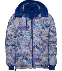 puffer jacket dundret ski area fodrad jacka blå dedicated