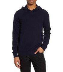 men's vince wool & cashmere hooded sweatshirt, size x-small - blue