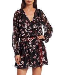 randi floral silk dress