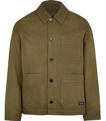 river island mens big & tall khaki long sleeve jacket