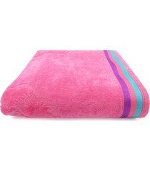 toalha de praia beach - appel - oceano - rosa neon, - tricae