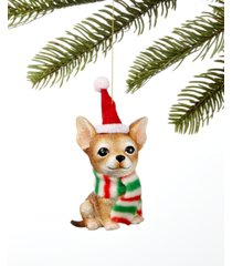holiday lane pets chihuahua in santa hat ornament, created for macy's