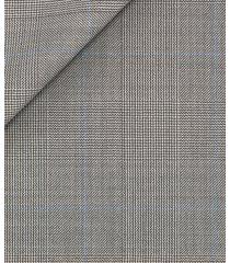pantaloni da uomo su misura, reda, pura lana merino principe di galles grigio chiaro, quattro stagioni | lanieri