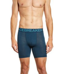 men's icebreaker anatomica zone long boxers, size large - black