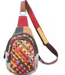 donna vera pelle borse a tracolla artigianali bohemien borse a tracolla intrecciate a tracolla multi-slot