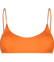 mc2 saint barth bikini bralette top - orange