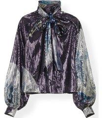 blouse sequin mesh