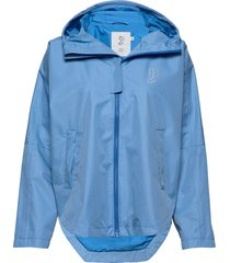 silhouette poncho jacket regenkleding blauw johaug