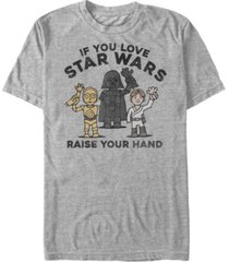 star wars men's classic raise your hand short sleeve t-shirt