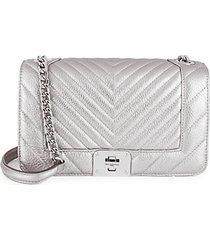 lara quilted metallic shoulder bag