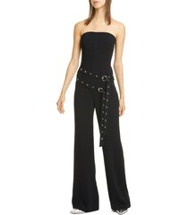 women's cinq a sept jessi double belt strapless jumpsuit