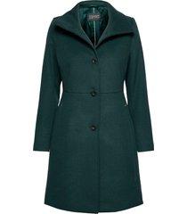 coats woven wollen jas lange jas groen esprit collection