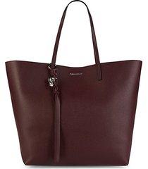 skull leather shopper bag