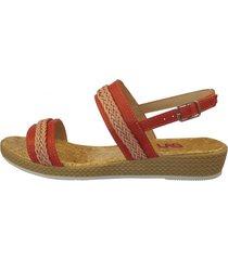 sandalia casual corcho rojo lag