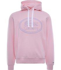 lacoste sport cotton blend fleece sweatshirt | rose pale | sh0532-ady
