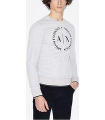 ax armani exchange circle logo sweatshirt