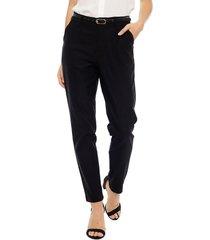 pantalón wados casual negro - calce ajustado