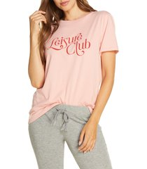 ban. do leisure club classic tee, size large in pink at nordstrom