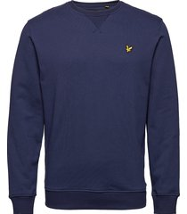crew neck sweatshirt sweat-shirt trui blauw lyle & scott