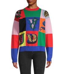 logo patchwork sweater