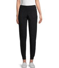 525 america women's lurex woven jogging pants - cosmic green - size xs