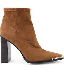anlico block heel booties heeled bootie