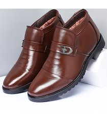 slip antiscivolo per uomo in vera pelle con cappuccio in caldo stivali casual