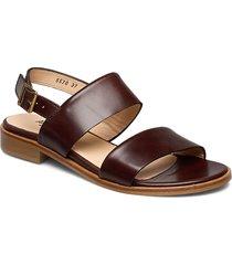 sandals - flat shoes summer shoes flat sandals brun angulus