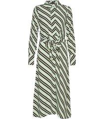 slfpixie-florenta ls midi dress b knälång klänning grön selected femme