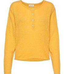 bizbow stickad tröja gul american vintage