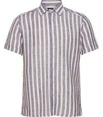 8804 - state n 2 soft st kortärmad skjorta blå sand