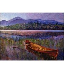 "david lloyd glover red canoe at rest canvas art - 15"" x 20"""