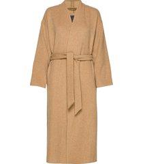 lazaar coat wollen jas lange jas beige brixtol textiles
