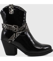 botin casual virginia negro stylo shoes