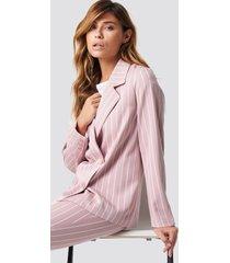 na-kd classic pink striped blazer - pink