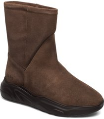 558g boot walnut suede shoes boots ankle boots ankle boot - flat brun gram