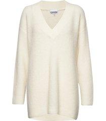 soft wool knit gebreide trui crème ganni