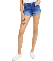 celebrity pink juniors' high-rise cuffed denim shorts