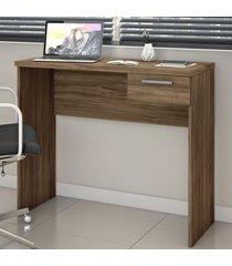 mesa escrivaninha 1 gaveta nt2000 nogal trend - notavel