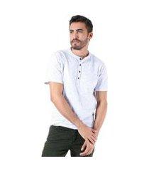 camiseta gola padre adamas masculina