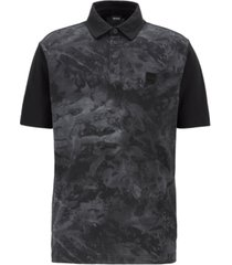 boss men's paive honeycomb-jersey polo shirt