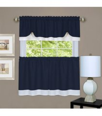 darcy window curtain tier and valance set, 58x36